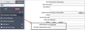 Unifier Setup - how to define authentication key