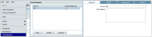 unifier general tab define data mapping