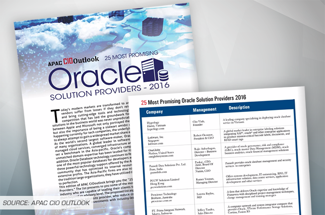 CIO OUTLOOK NAMES PRESCIENCE TECHNOLOGY IN 25 MOST PROMISING ORACLE SOLUTION PROVIDERS