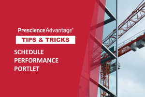 SCHEDULE PERFORMANCE PORTLET – PRIMAVERA TIPS AND TRICKS