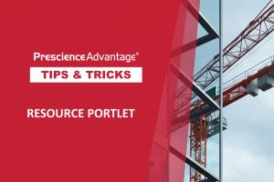RESOURCE PORTLET – PRIMAVERA TIPS AND TRICKS