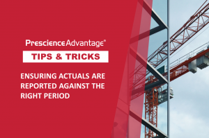 ENSURING ACTUALS ARE REPORTED AGAINST THE RIGHT PERIOD – PRIMAVERA TIPS AND TRICKS