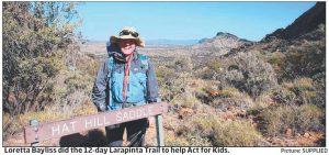loretta bayliss act for kids larapinta trail